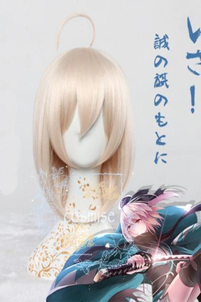 Fate/Grand Order 沖田 総司 コスプレウィッグおきた そうじ 仮装用 かつら Fate/Grand Order耐熱コスプレウィッグ